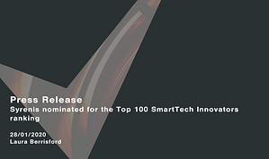 Syrenis-nominated-for-the-Top-100-SmartTech-Innovators-ranking