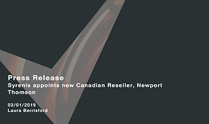 Syrenis-appoints-new-Canadian-Reseller-Newport-Thomson