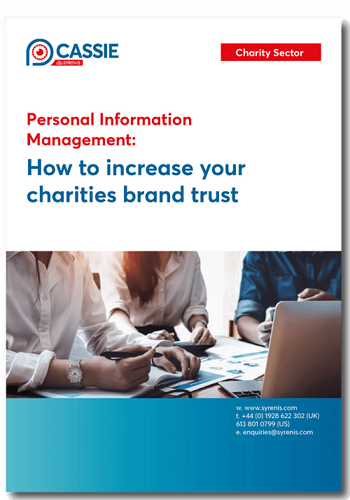 Charities Cassie personal information & consent management