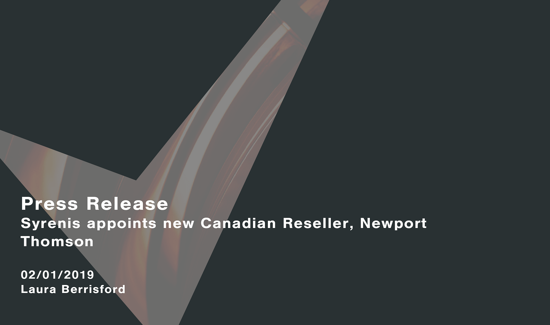 Syrenis appoints new Canadian reseller, Newport Thompson Cassie personal information & consent management
