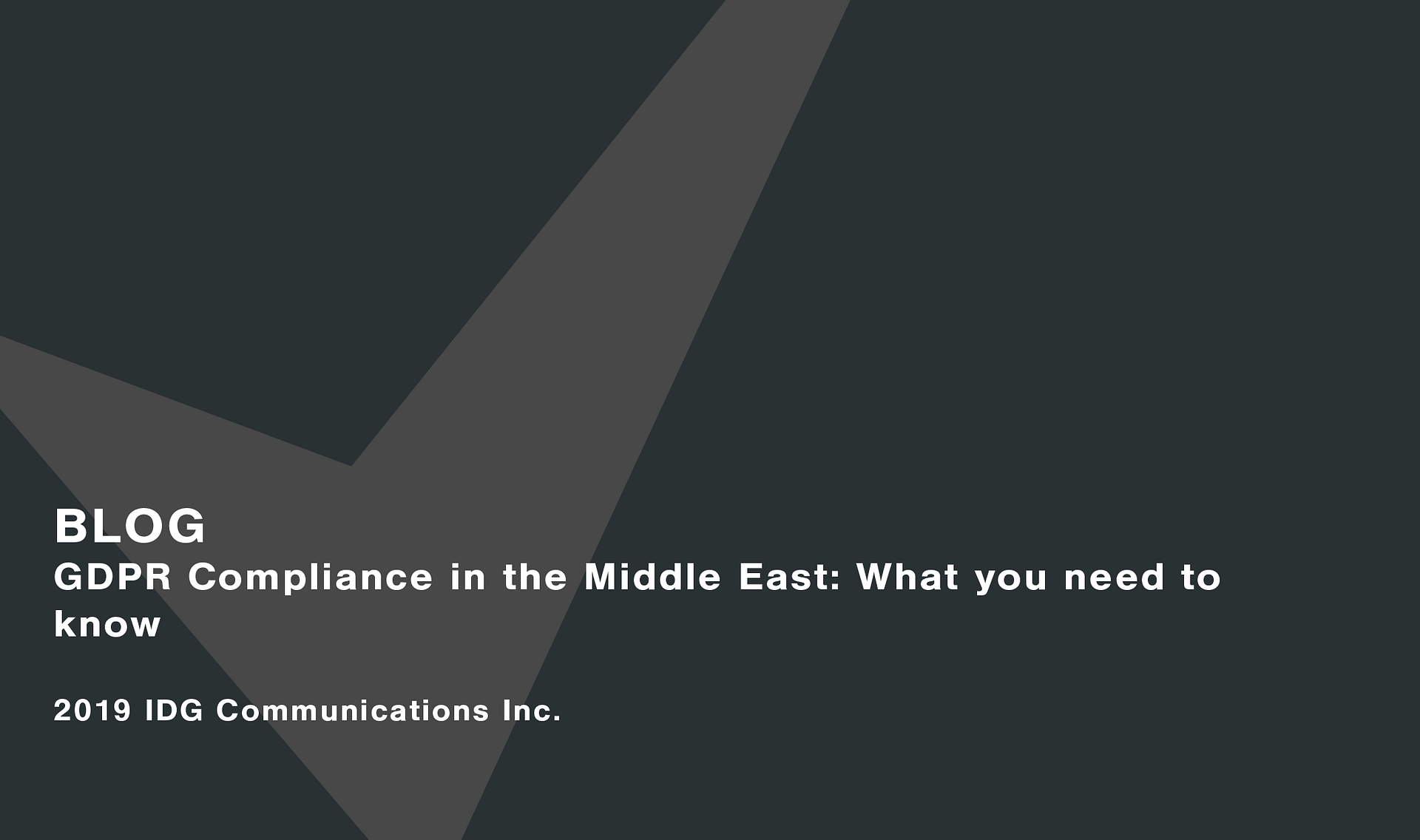 GDPR compliance in the Middle East: What you need to know Cassie personal information & consent management