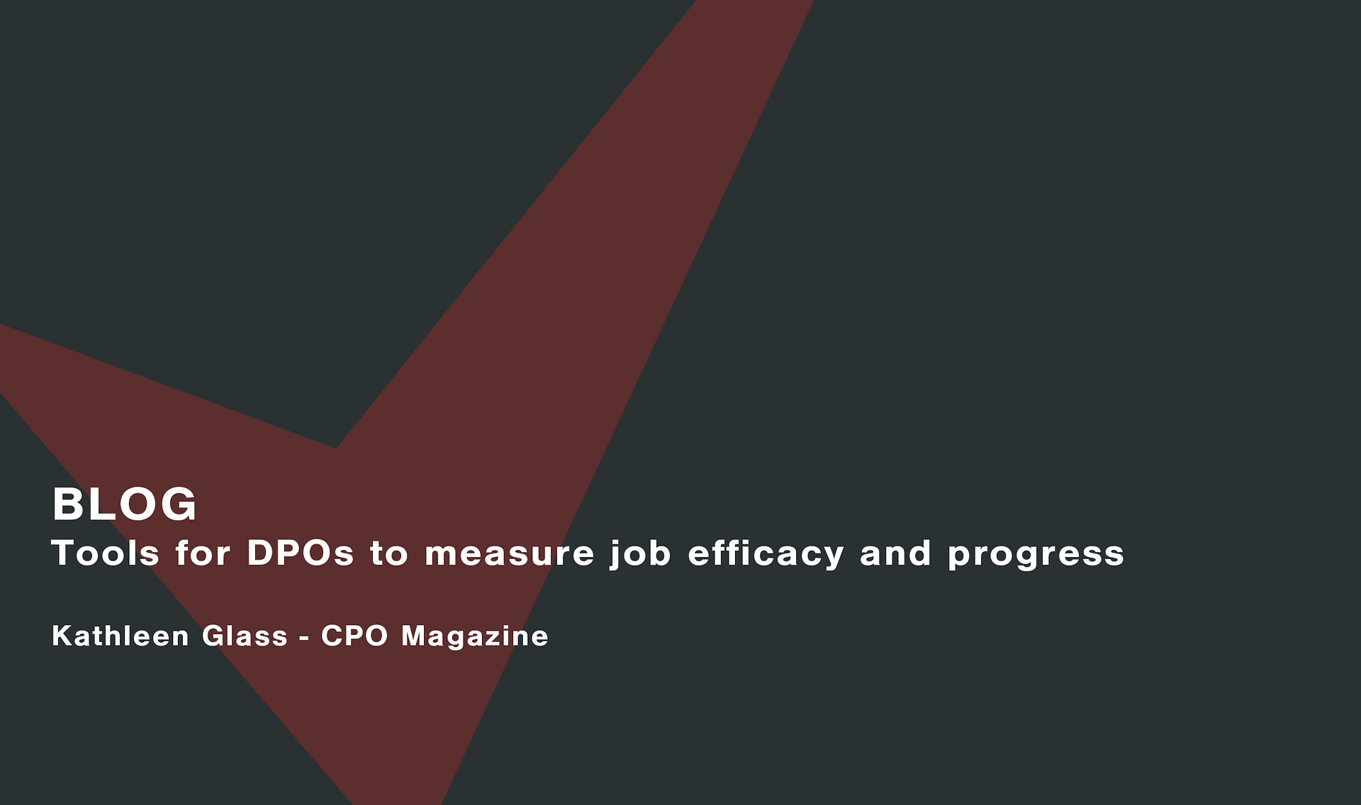 Tools for DPOs to measure job efficacy and progress Cassie personal information & consent management