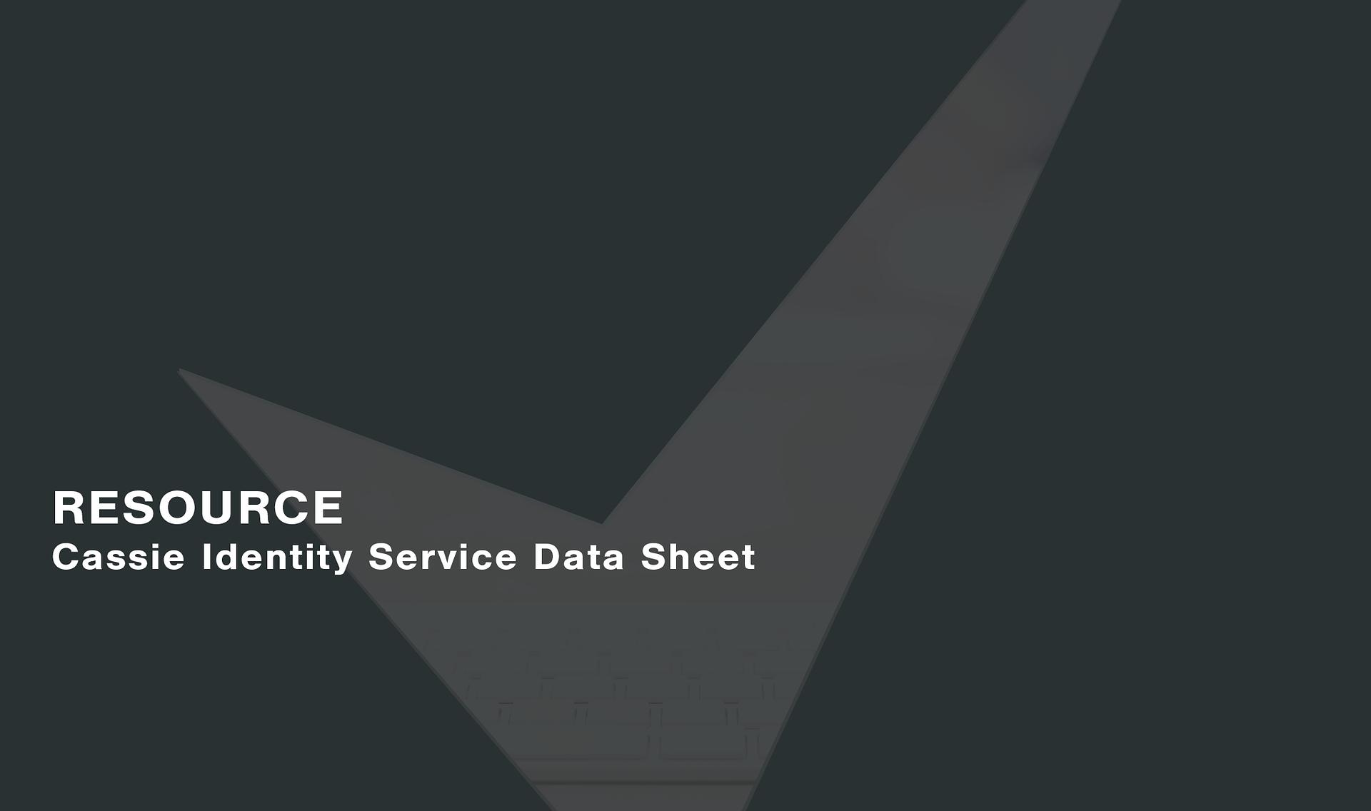 Cassie-Identity-Service-Data-Sheet
