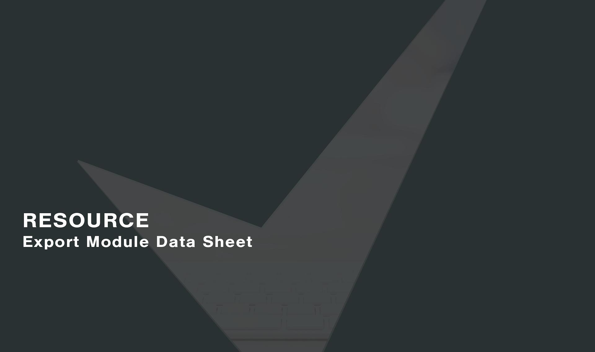 Export-Module-Data-Sheet