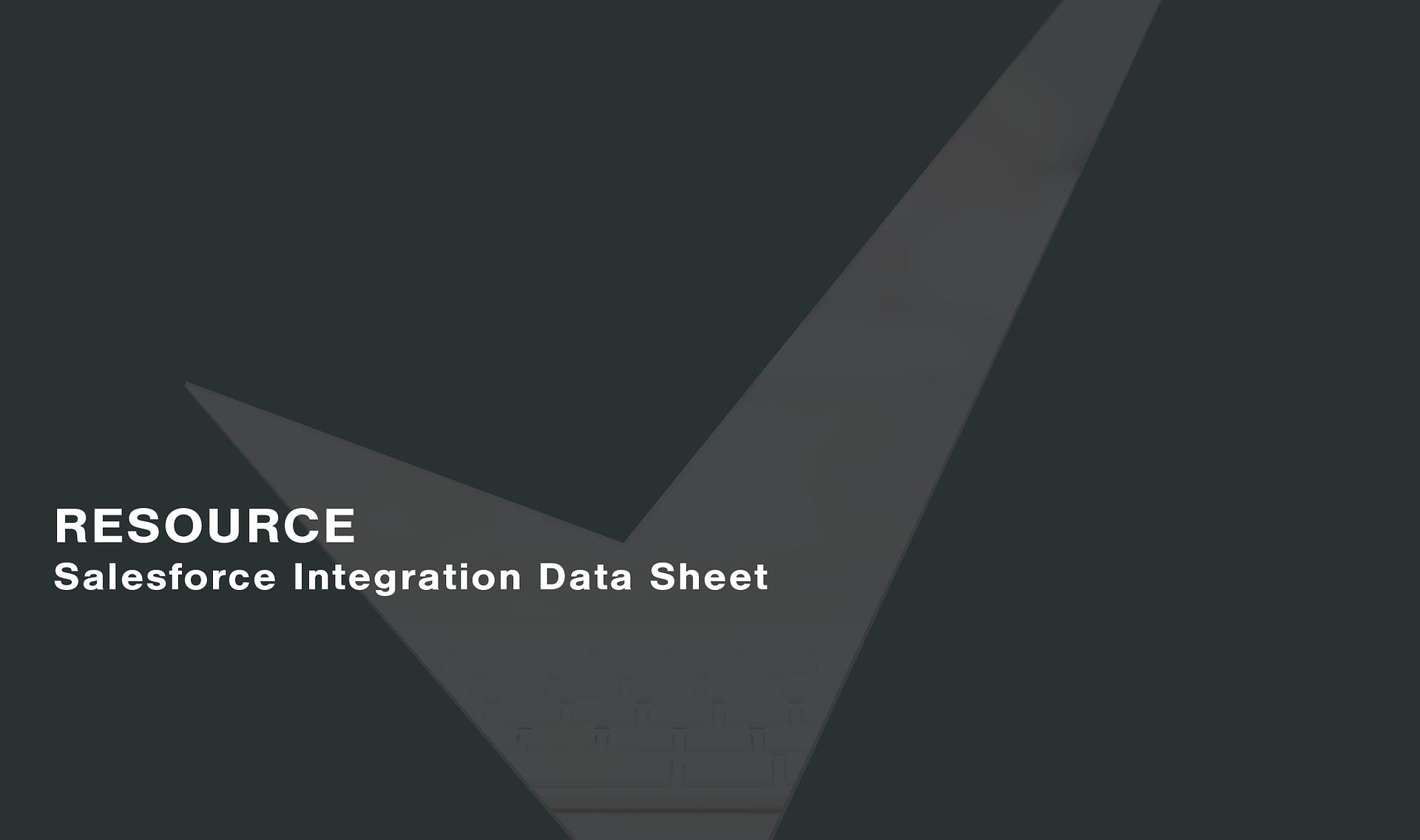 Salesforce-Integration-Data-Sheet