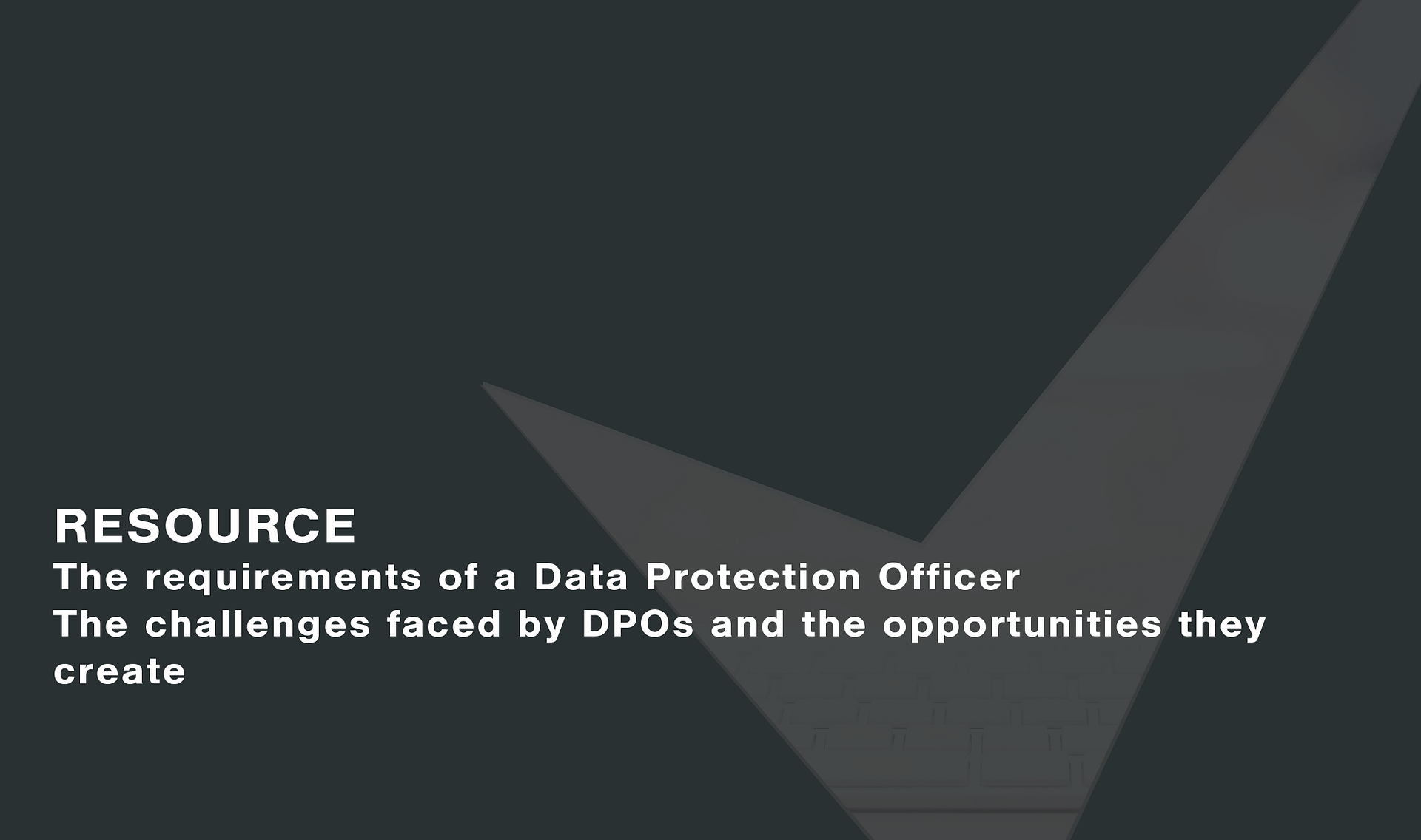 Report: The requirements of a Data Protection Officer Cassie personal information & consent management