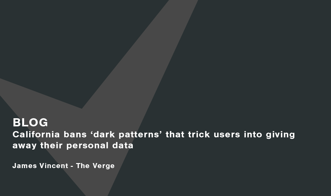 California bans 'dark patterns' that trick users into giving away their personal data image