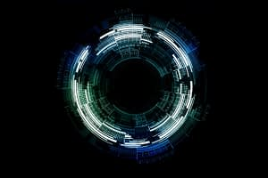 tech, circle, technology