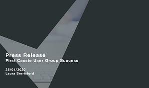 First-Cassie-User-Group-Success