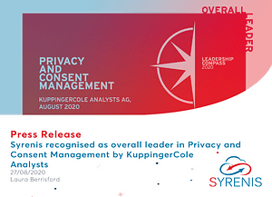 Syrenis recognised as an overall leader in Privacy and Consent Management by KuppingerCole Analysts